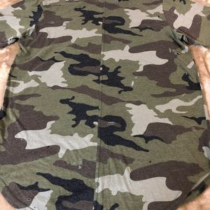 PacSun Tops - Tee shirt long camouflage with rips NWOT